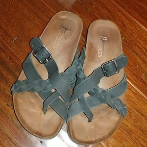 White Mountain Footbed Leather Sandals
